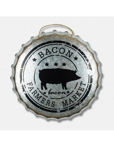 "14"" Bacon Farmers Market Galvanized..."