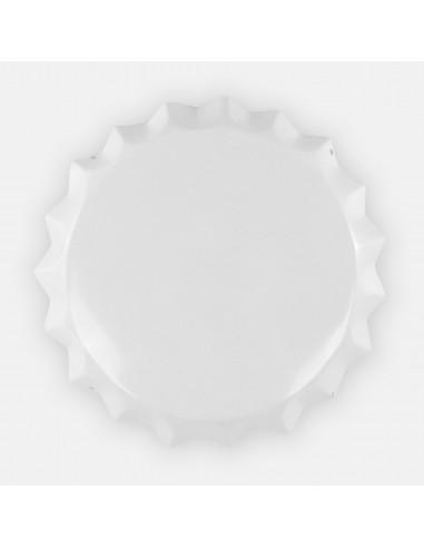 """14"""" White Aluminum Formed Bottle Cap..."""