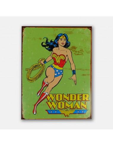 "16"" Wonder Woman Retro Tin Metal Sign"