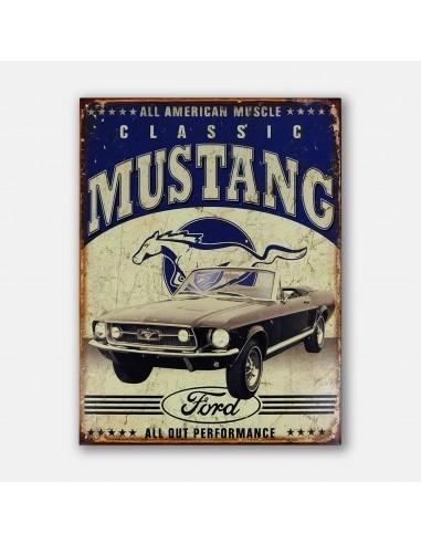 """16"""" Classic Mustang Tin Metal Sign"""
