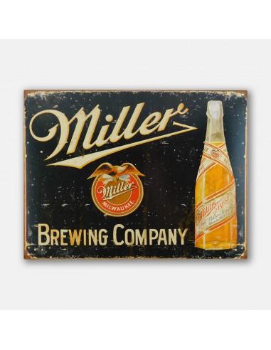 """16"""" Miller Brewing Vintage Bottle Tin..."""