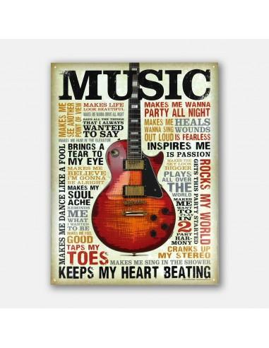 "16"" Music Inspires Me Rocks My World..."
