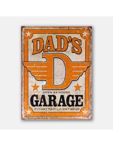 "16"" Dad's Garage Open 24 Hours Tin..."