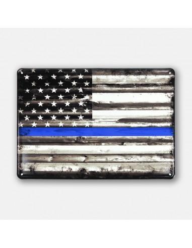 "13.5"" X 9.5"" Thin Blue Line Flag Law..."